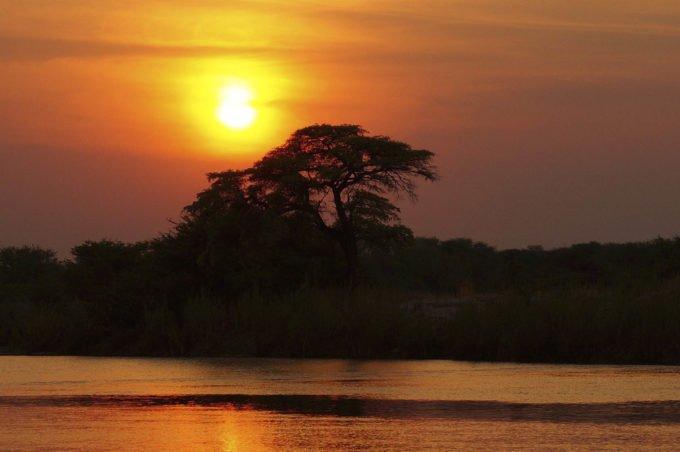 Африка | Красивый закат