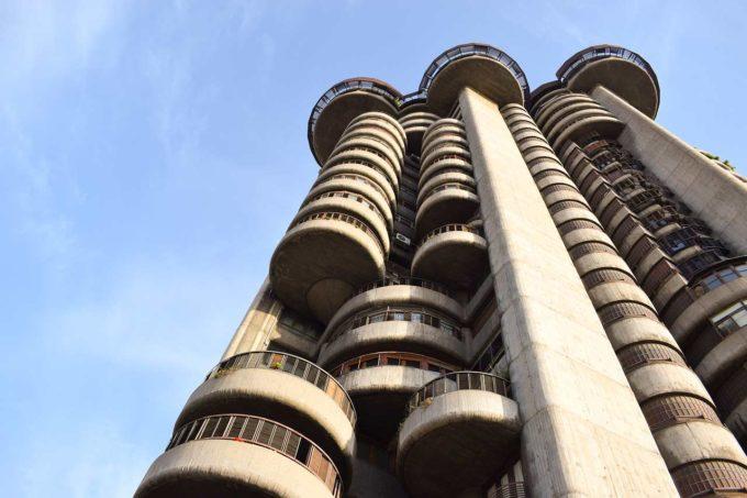 wieżowiec w Madrycie