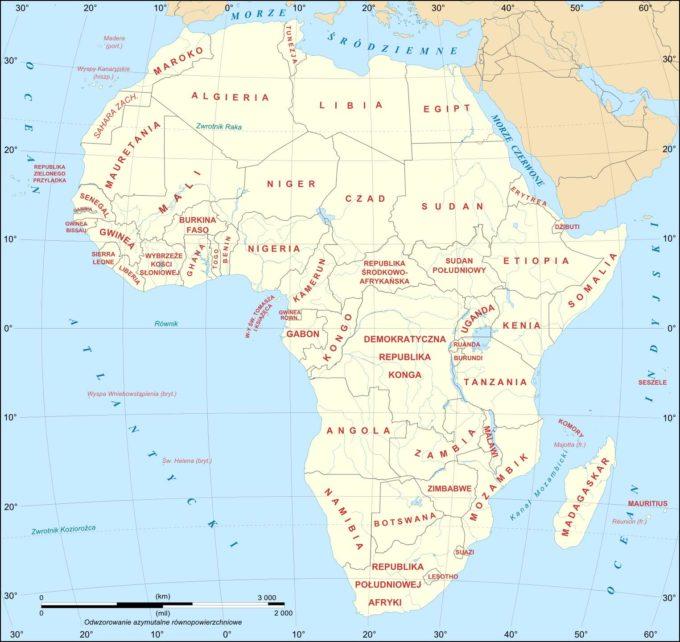 Afryka mapa