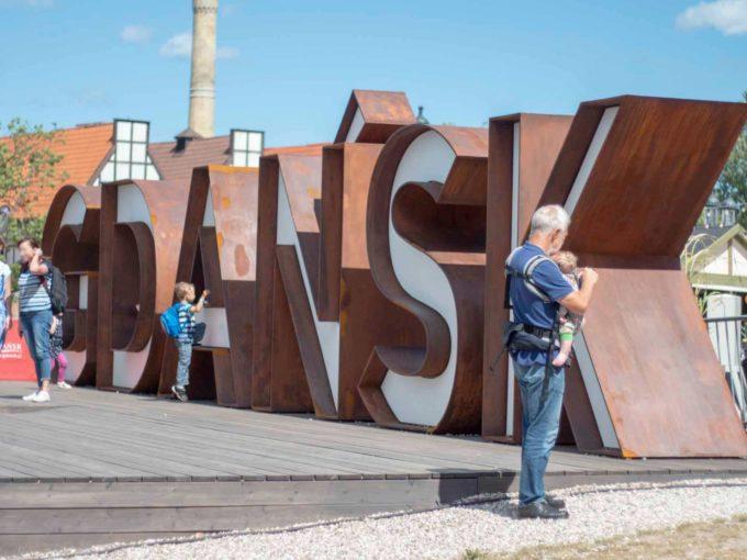 Wielki napis Gdańsk