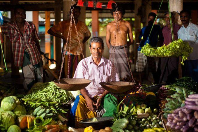 sprzedawca na Sri Lance