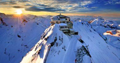 Górna stacja kolejki w Szwajcarii