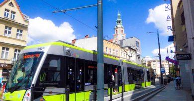 limonkowy tramwaj w Olsztynie