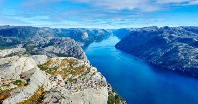 Fjord w Norwegii