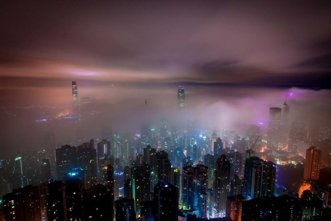 chmury nad metropolią