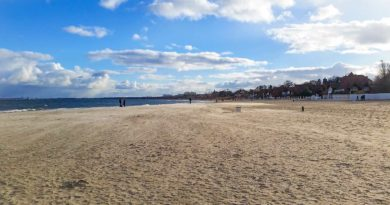 Plaża w Jastrzębiej Górze