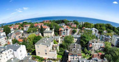 widok z drona na Sopot