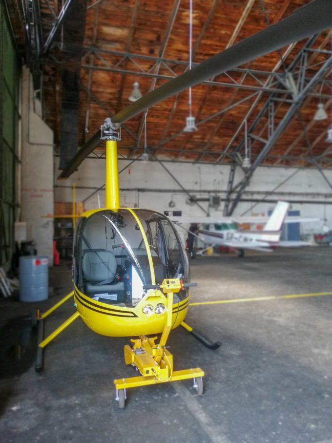 helikopter w Pruszczu Gdańskim