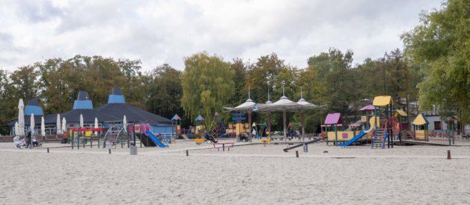 Plac zabaw na plaży
