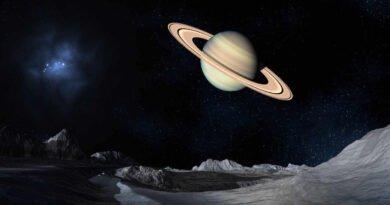 Saturn w kosmosie