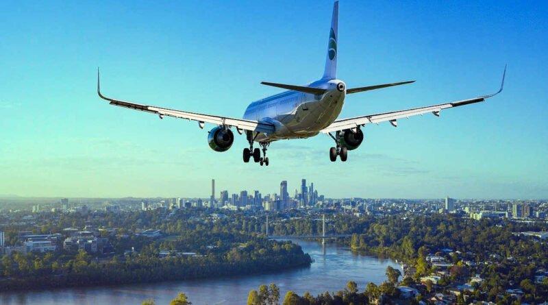 lot nad miastem