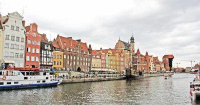 Widok na Motławę w Gdańsku