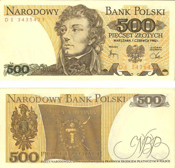 500zł banknot Tadeusz Kościuszko
