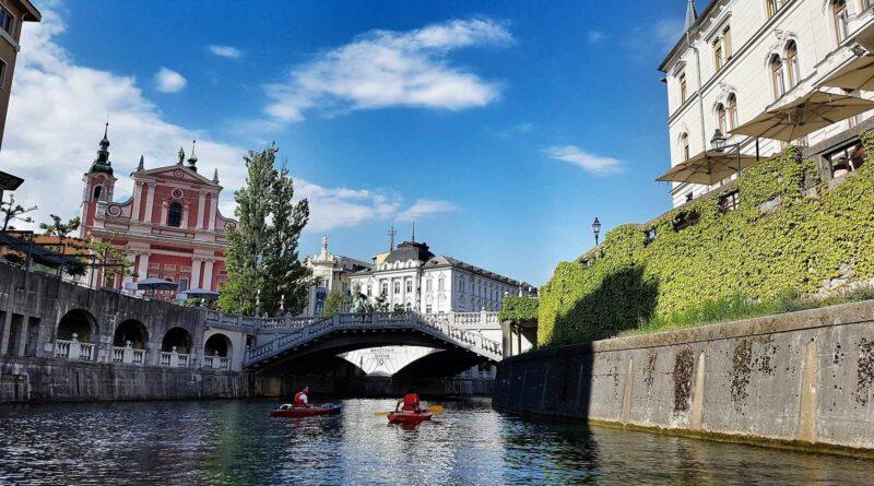 rzeka w Lublanie