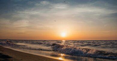 zachód słońca w Międzyzdrojach