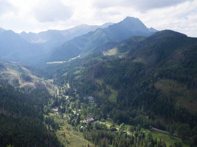 Panorama z góry Nosal